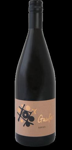 Flasche Rotwein vom Weingut Gaufer