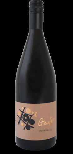 Flasche Schwarzriesling Rotwein